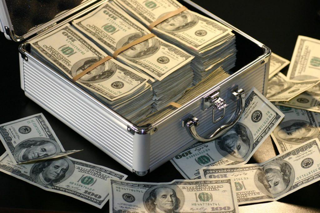 アタッシュケースに入った現金