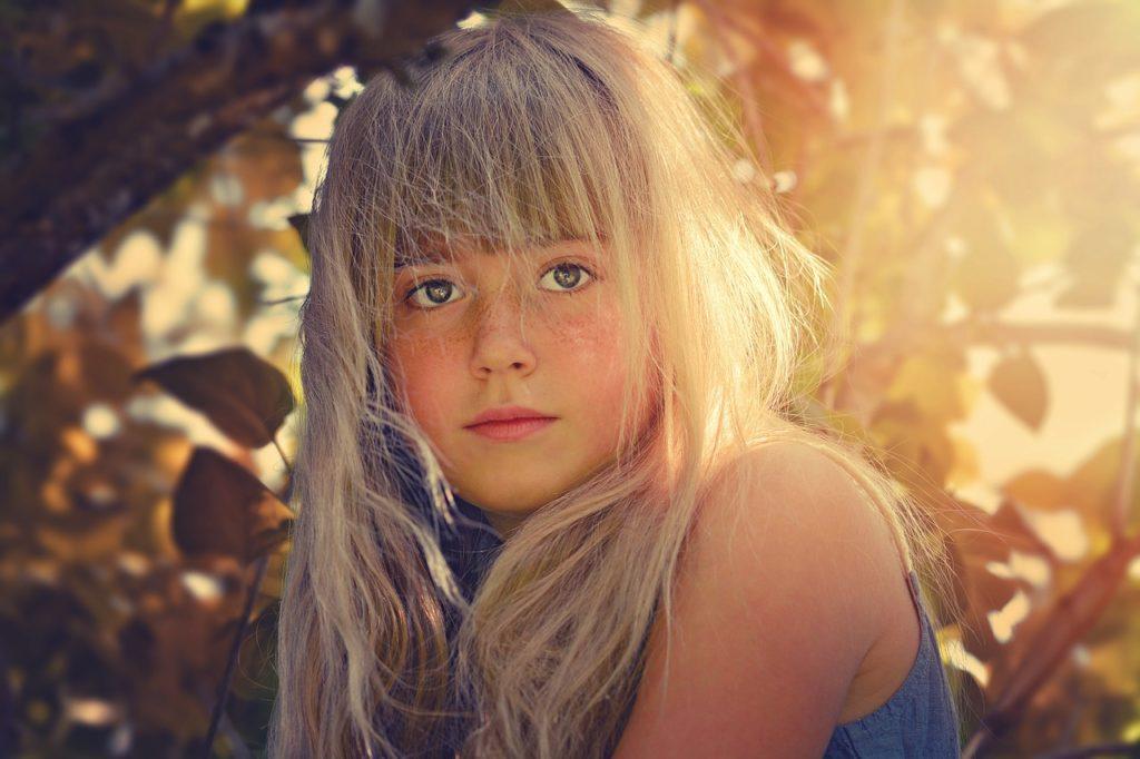 ロングヘアの女の子