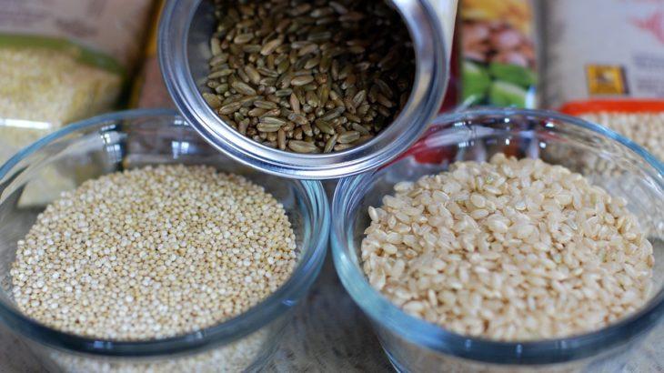 玄米とキヌア