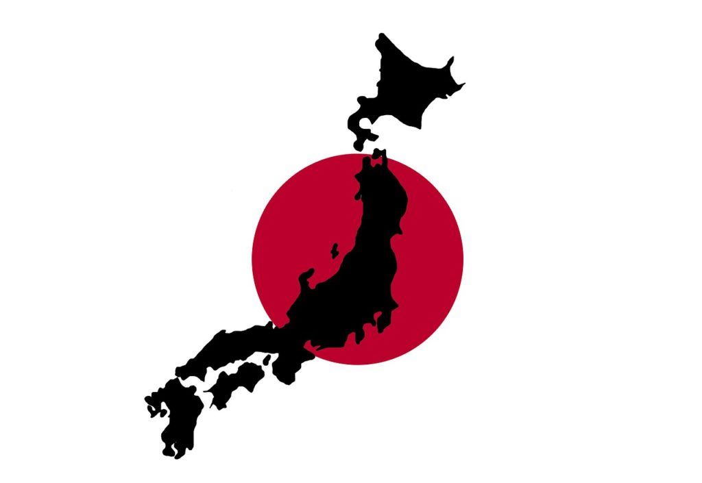 日本地図 日の丸