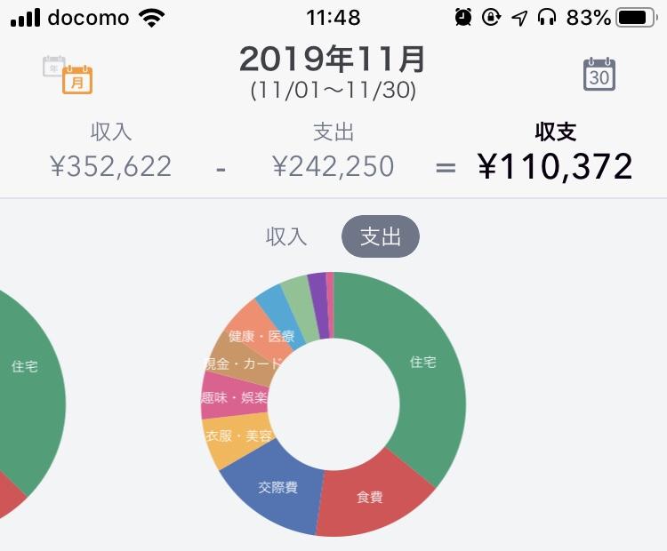 2019年11月の支出