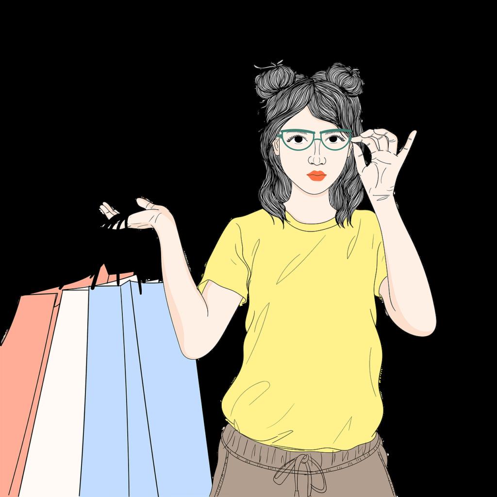 ショッピングする女の子
